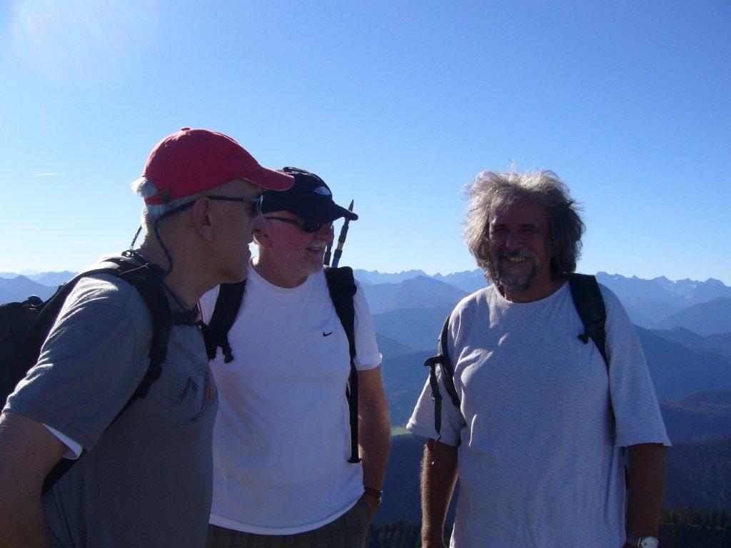 Drei Helden am Gipfel